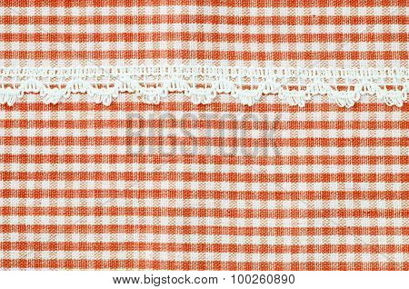 Beautiful Red And White Tablecloth.