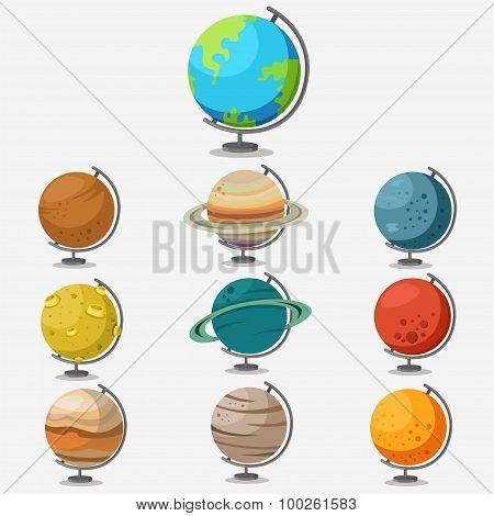 Globe model and simulation stars