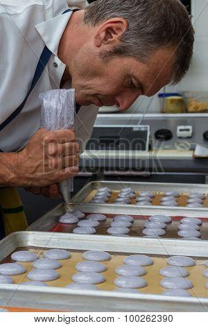 Preparing French Macaroons