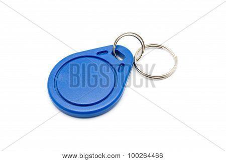 Blue Rfid Keychain Tag