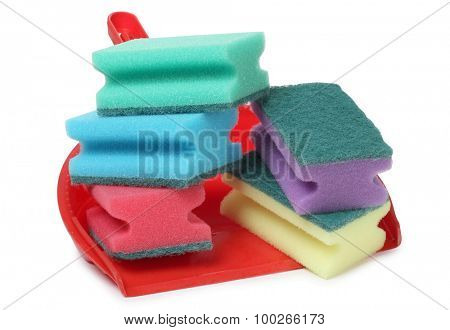 Protective and cleaning products on tile background