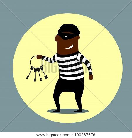 Burglar carrying a set of keys