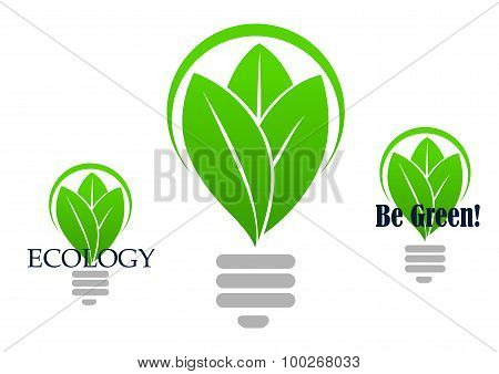 Save energy icon with light bulb