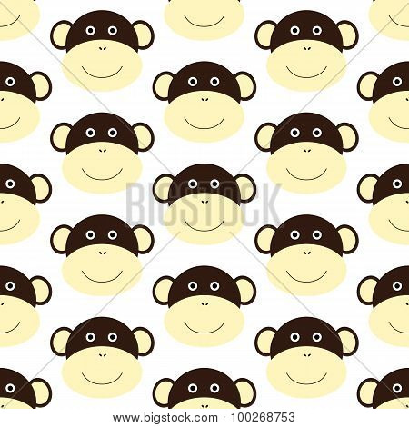Pattern With Monkey Face
