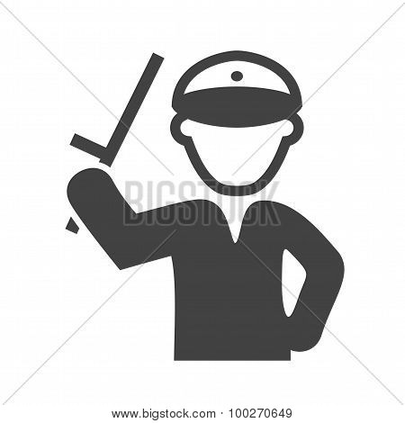 Policeman holding Stick