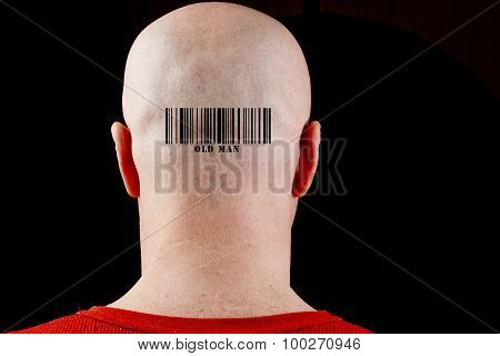 In Bald Man Barcode Old Man