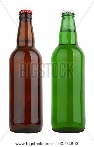 Bottles isolated on white background