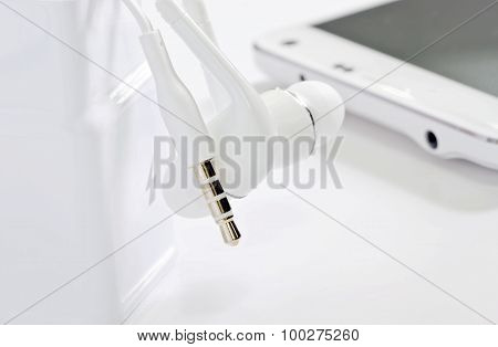 White Earphone Jack