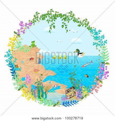 treasure in the lake,