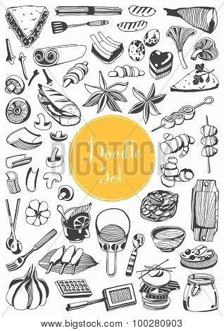 Big doodle set - Food & kitchen tools