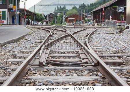 Lenk , Switzerland - July 13: Trainstation In Lenk, Switzerland On July 13, 2015.