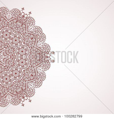 Mehndi henna design background