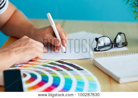 Graphic Designer At Sketching The Design