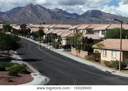 Desert Homes And Mountains