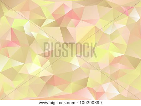 Cubism Background Beige And Crimson