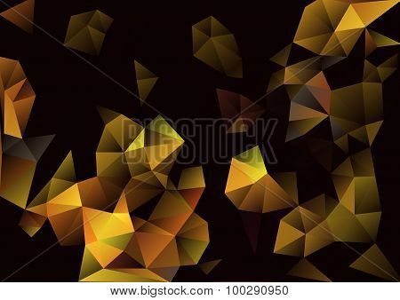 Cubism Background Black And Gold