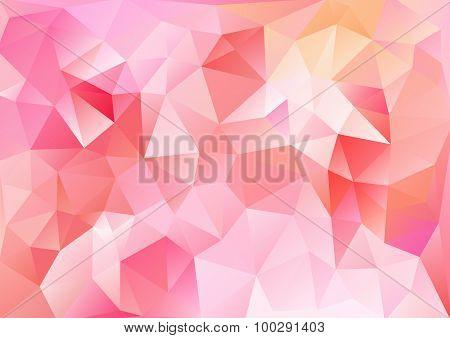 Cubism Background Bright Red Orange
