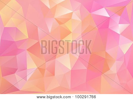 Cubism Background Pink And Red