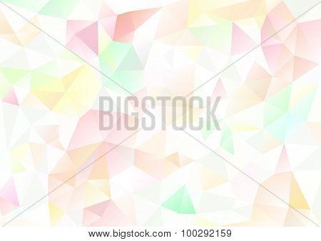 Cubism Background White And Pink Yellow Green