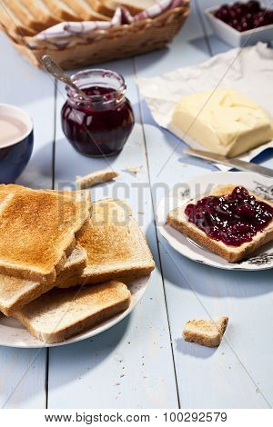 Breakfast With Bread Toast