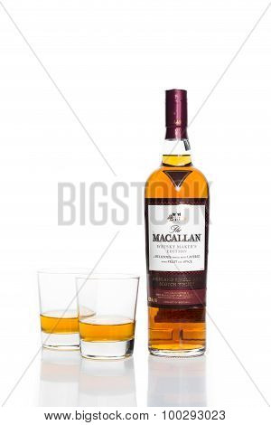 KUALA LUMPUR, MALAYSIA - August 30, 2015: Macallan, single malt scotch whiskey is now available