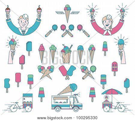 Ice Cream Bundle Colored
