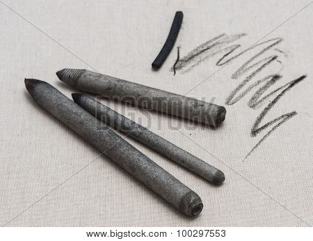 Blending stumps and charcoal stick