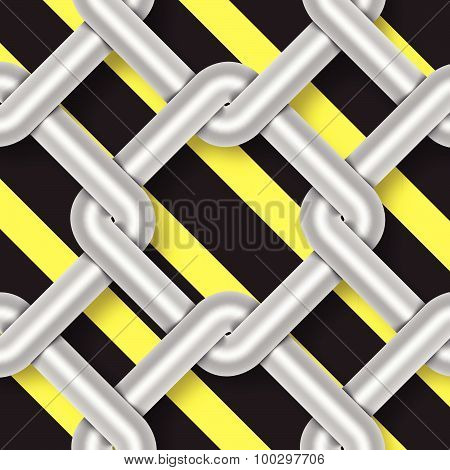 Steel Wire Weave, Danger Signs, Background Vector