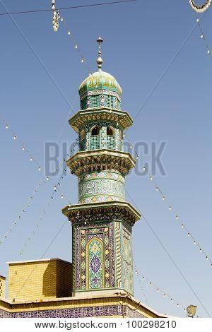 Minaret of The shrine of Fatima Almasomh