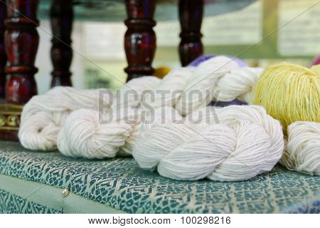 White Silk Yarn