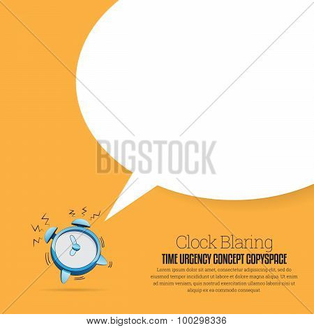 Clock Blaring Copyspace