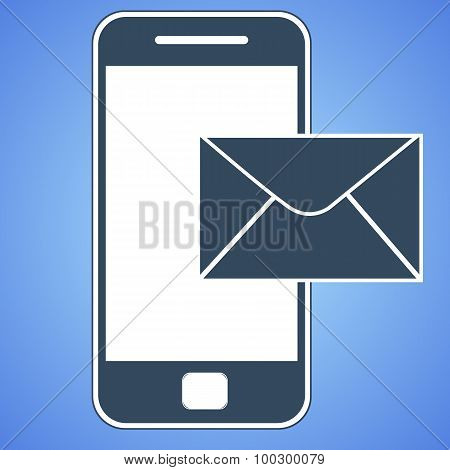 mail smartphone icon