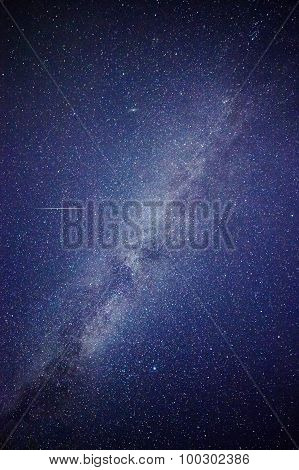 Satellite Flying Into The Milky Way