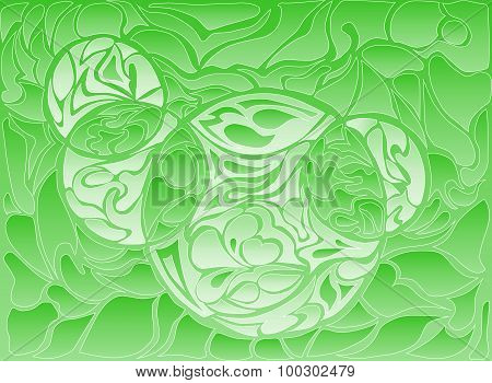 Vector Illustration Of Doodle Rounds. Hand-drawn Pattern. Stylized Texture With Loops. Line Drawing