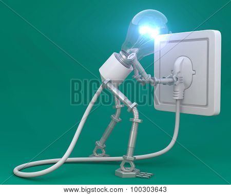 Bulb man,idea,thinking