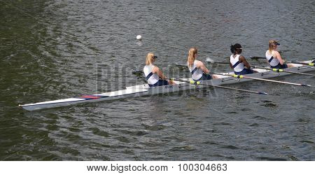 Ladies fours sculling team