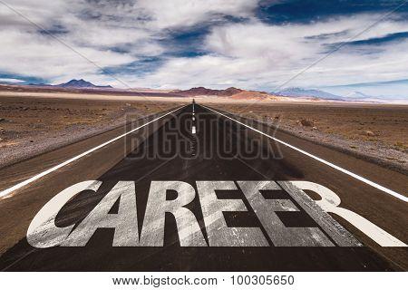 Career written on desert road