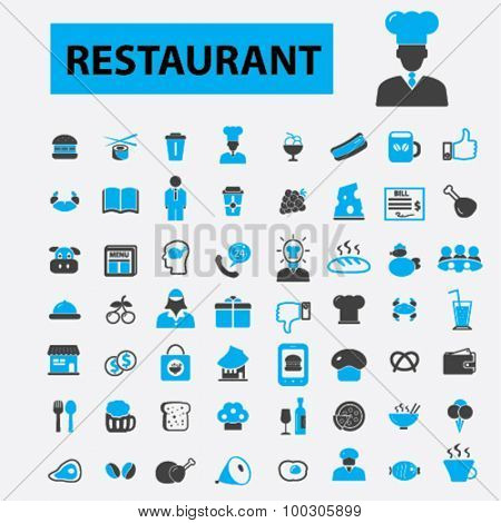 Restaurant concept icons: food icons,  restaurant logo,  hotel services,  restaurant menu, dining, cafe, pizza, bill, beer, pub. Vector illustration