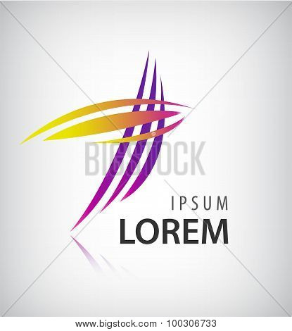 Vector Logo Design Template. Abstract Colorful Stripe Icon.