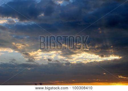 Sunset in sky