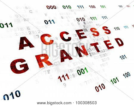 Privacy concept: Access Granted on Digital background