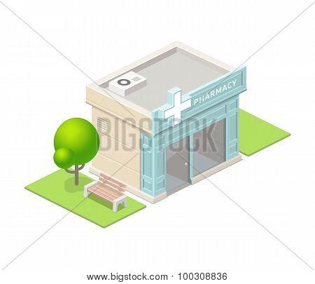 Isometric Pharmacy Building