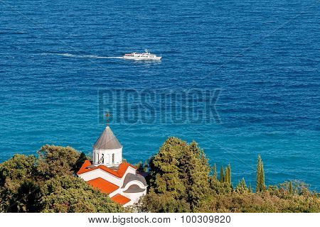 Beautiful summer landscape - the church