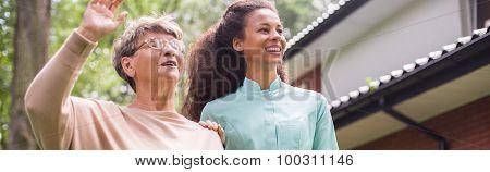 Senior Lady Having Home Care