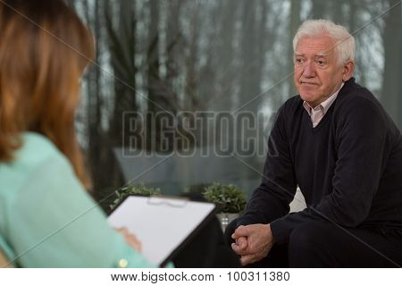 Retired Man With Depression