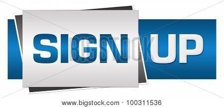 Sign Up Blue Grey Horizontal