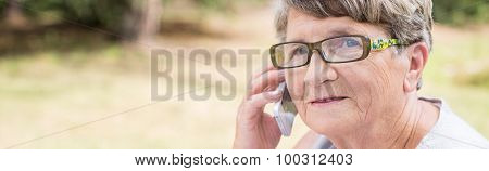Elder Woman Talking