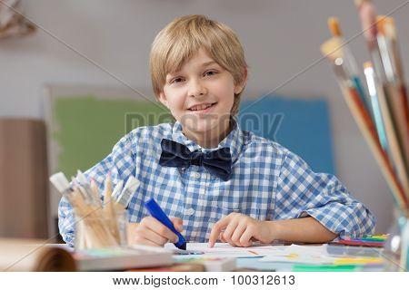 Boy Developing Artistic Talent