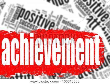 Word Cloud Achievement Business Sucess Concept