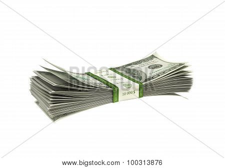 Dollar Paper Stack Isolated
